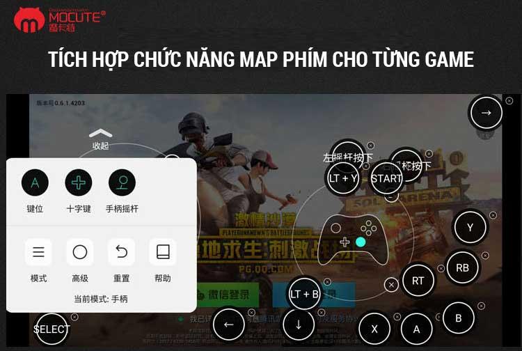 Chức năng map phím tay cầm Mocute 058