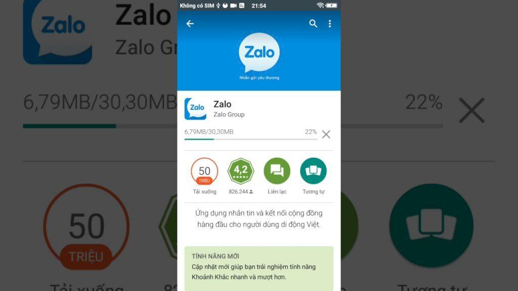 Tải Zalo cho điện thoại Android