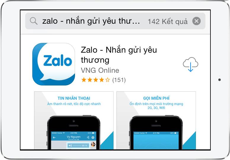 Tải và cài đặt Zalo cho iPhone, iPad, iOS