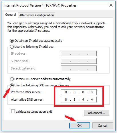 Cách vào facebook bằng việc đổi DNS của Google