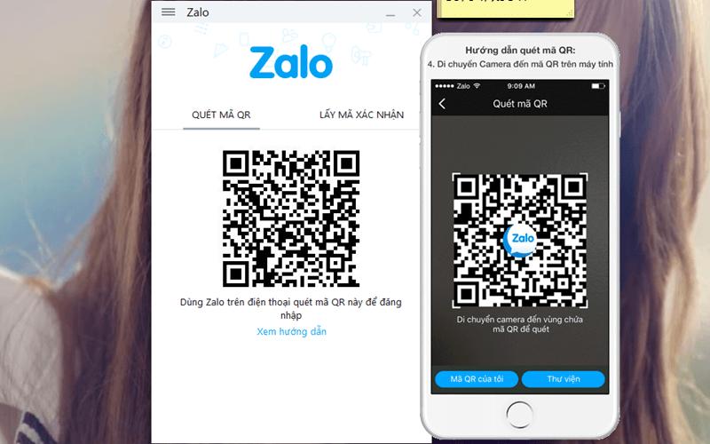 Đăng nhập Zalo trên máy tính bằng mã QR