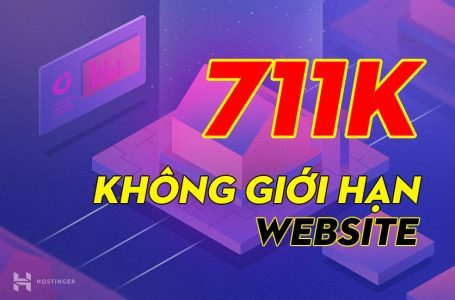 1 năm Hosting không giới hạn website và miễn phí tên miền .com chỉ với 711k