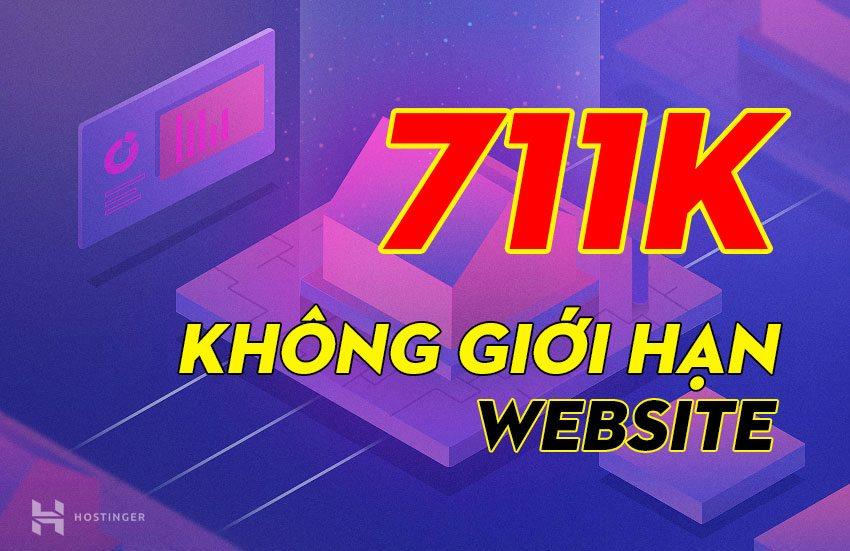Đăng ký gói hosting không giới hạn website với 711k