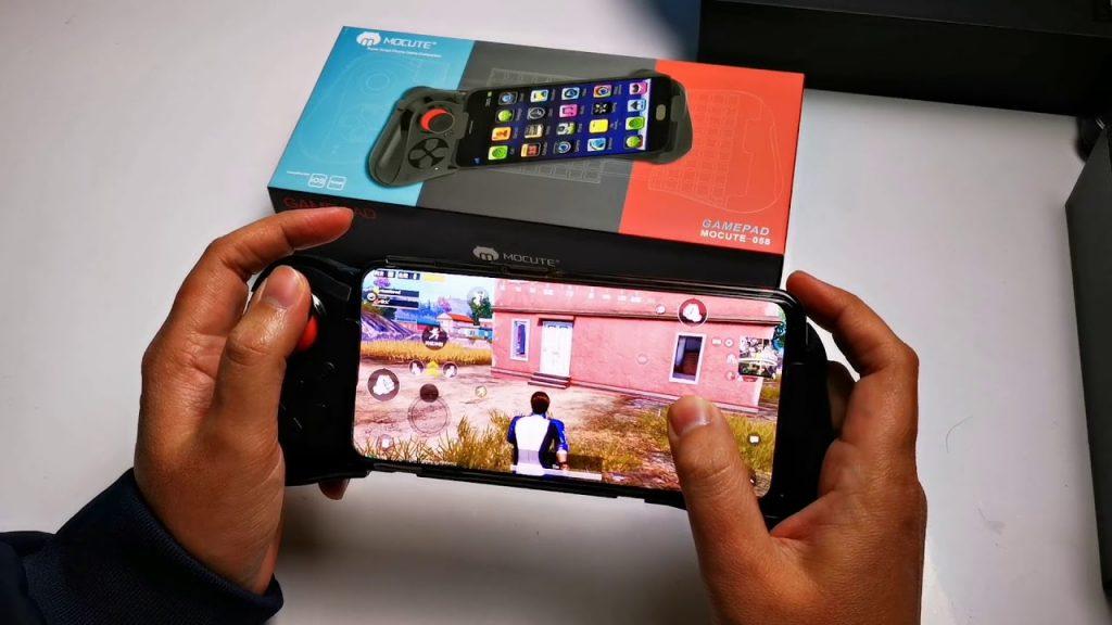 Tay cầm Mocute 058 chơi game PUBG Mobile